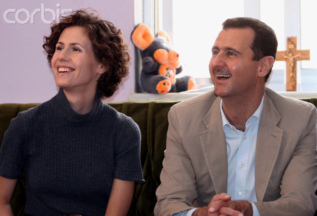 Syria - Politics - Syrian President Bashar Al-Assad  - Asma Al-Assad