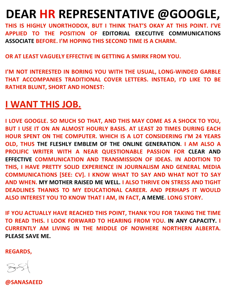 Related with google sample cover letter
